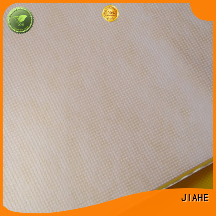 JIAHE Brand stitchbond woven bag fabric for reusable shopping bags manufacture