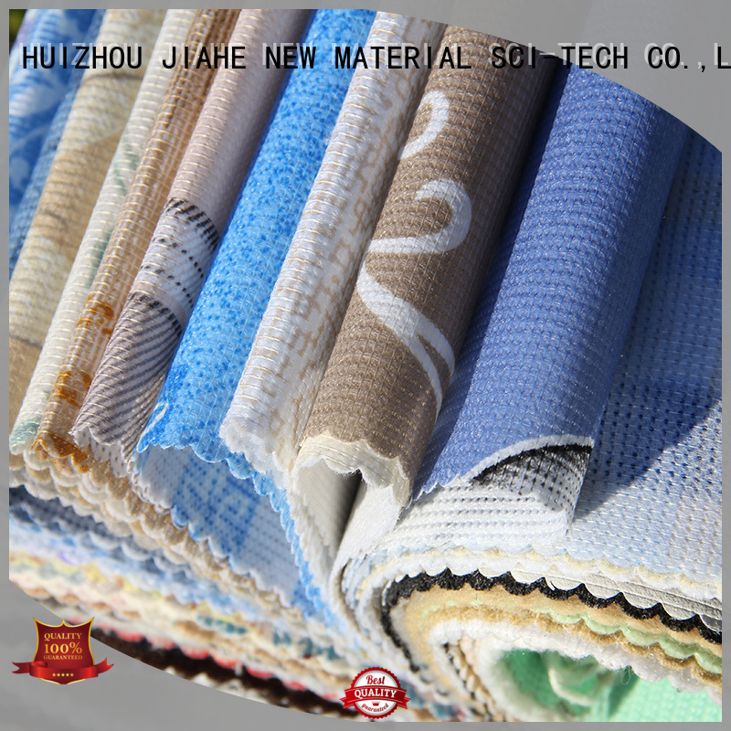 stitch blue special printed non woven fabric textile JIAHE Brand