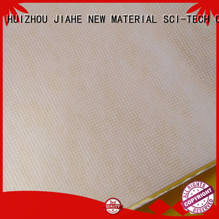 JIAHE Brand material shopping white custom reusable bag fabric