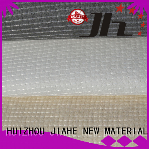 recycled polyester fabric cream white JIAHE Brand non woven fabric
