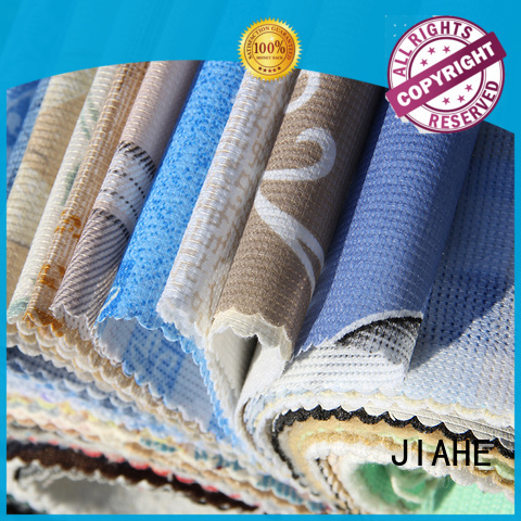 eco polyester logo ticking printed non woven fabric JIAHE Brand